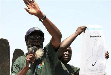 South Sudanese demonstrate in favour of a separation between South and North Sudan