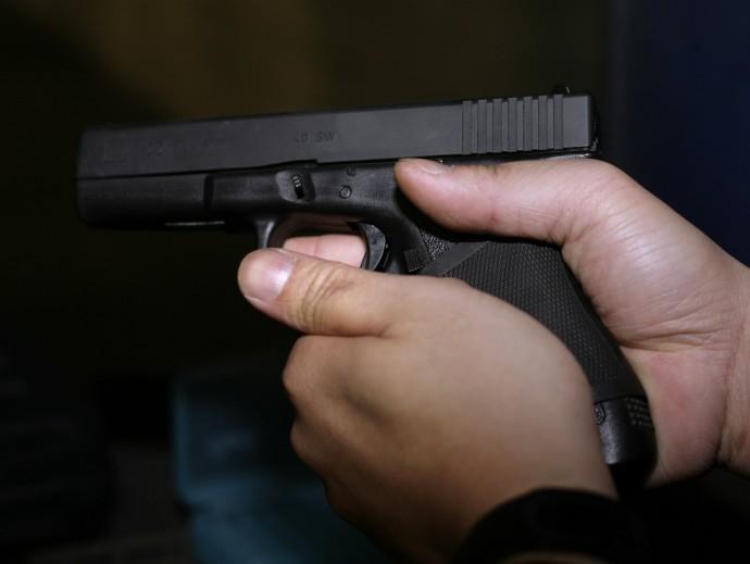 The Glock 9 mm pistol