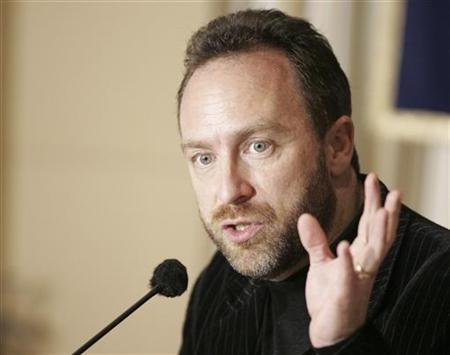 Wikipedia founder and Chairman of Wikia.com Jimmy Wales speaks during a news conference in Tokyo