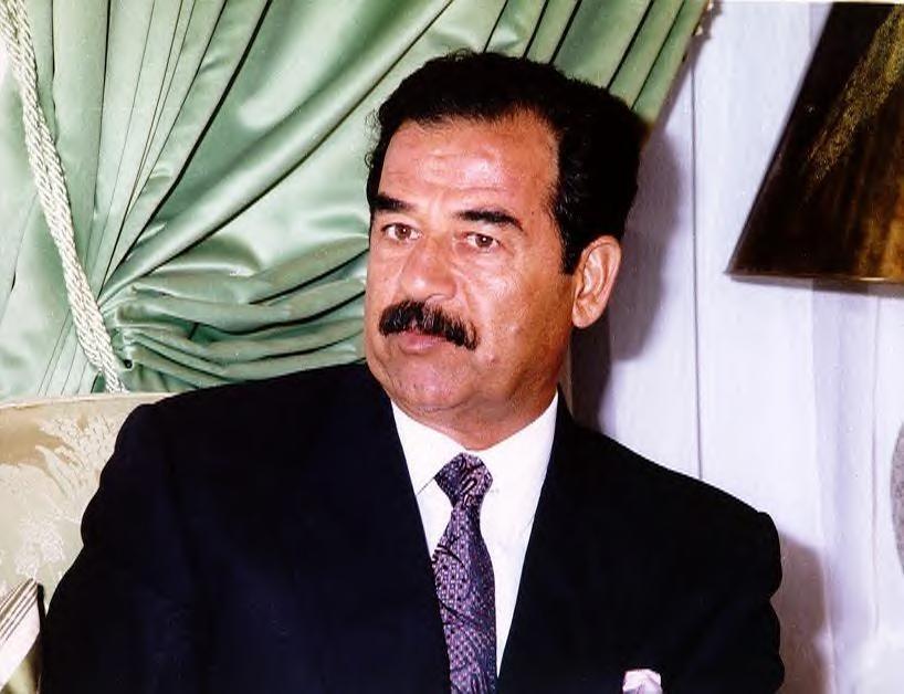 Late Iraqi dicator Saddam Hussein