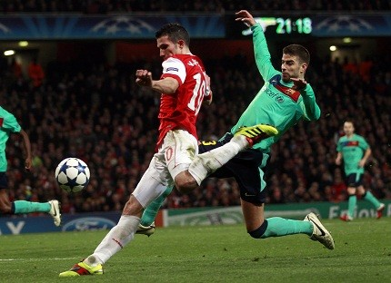 Van Persie equalized for Arsenal