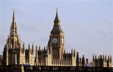 The Houses of Parliament and Big Ben clocktower are pictured on a sunny day in London