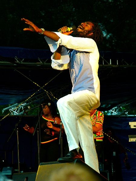 Buju Banton performing a song