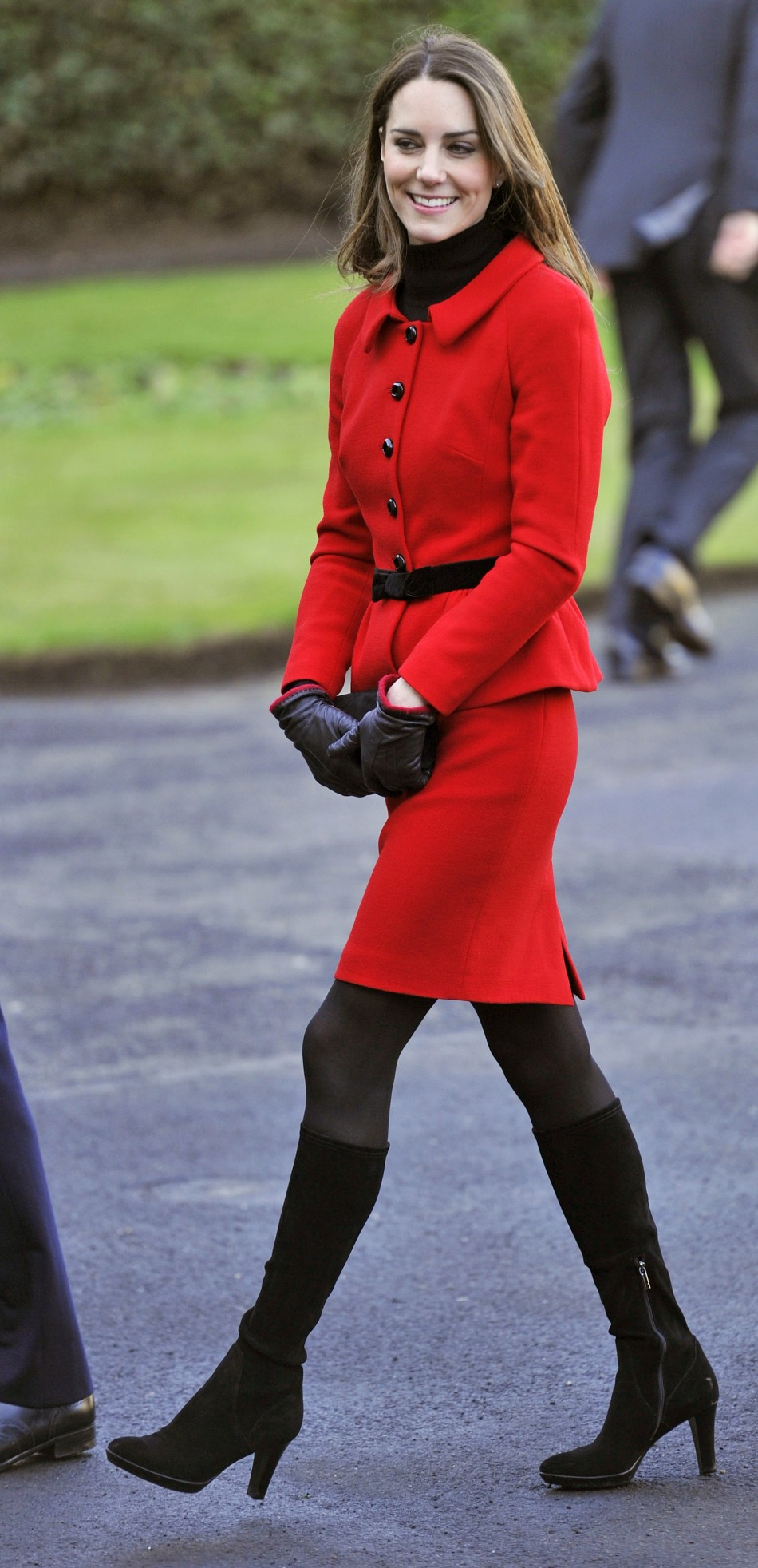 Kate Middleton returns in quotRed Regalquot style at St. Andrews.