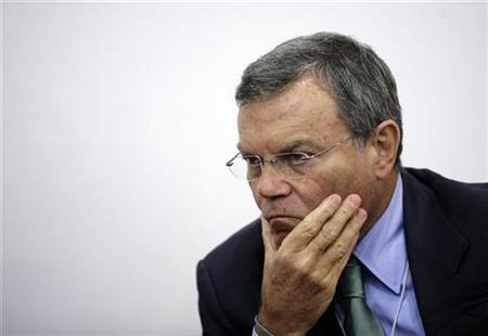 Martin Sorrell, Chief Executive Officer of WPP Group, pauses at the World Economic Forum in Dalian