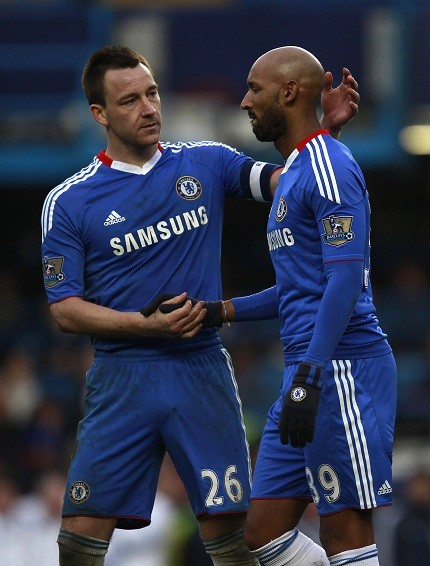Nicolas Anelka (R) with John Terry