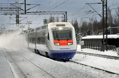 Allegro train, Finland  Russia