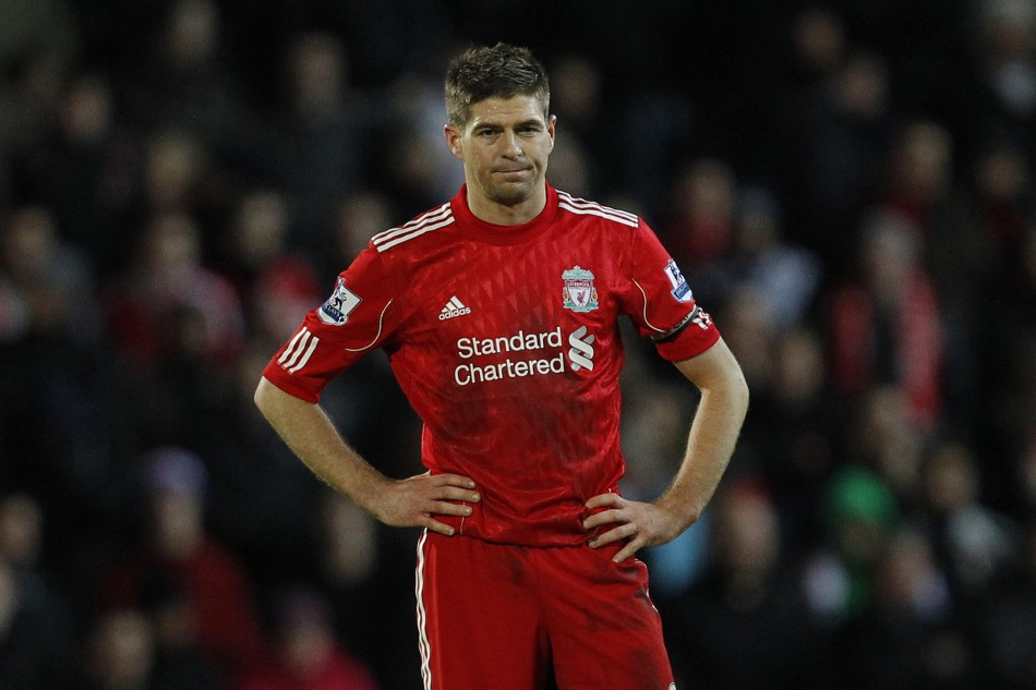 Steven Gerrard is expected to be sidelined for four weeks.
