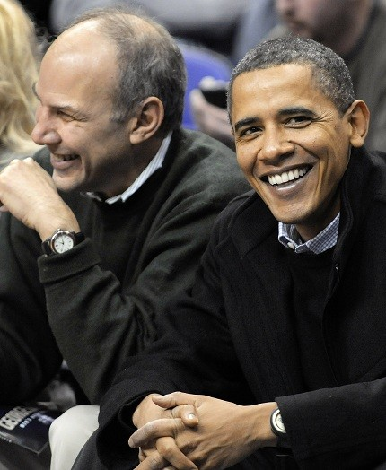The president attends a basketball game