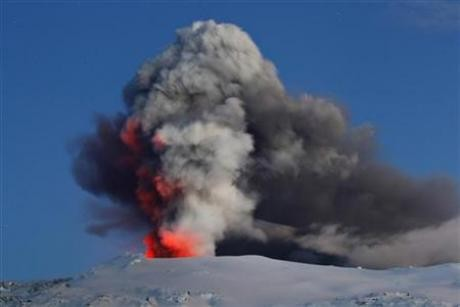 Last year, the relatively small eruption of the Eyjafjallajokull volcano caused widespread disruption all across Europe as volcanic ash was spewed several miles into the air, resulting in cancelation of flights