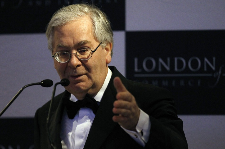 Bank of England Governor Mervyn King speaks at the Asian Business Association annual dinner in London