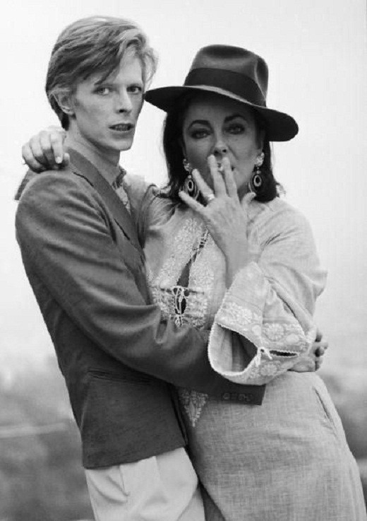 Elizabeth Taylor with David Bowie