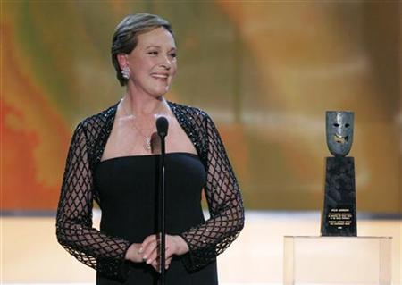 Actress Julie Andrews accepts the Life Acheivement Award presented to her in Los Angeles