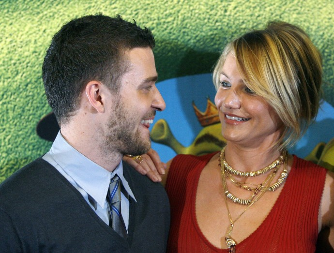 Former celebrity couple, Cameron Diaz and Justin Timberlake