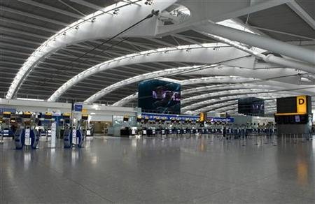 The £4.3billion British Airways base, Terminal 5, was hardest hit but delays from other terminals were also reported.