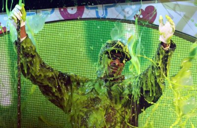Snoop Dogg gets slimed at the 24th annual Nickelodeon Kids Choice Awards in Los Angeles