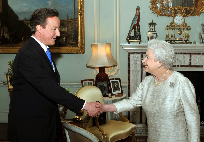 Cameron with Queen