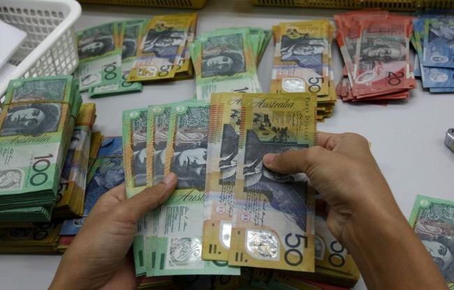 Aussie dollar opens 1.3 cents higher