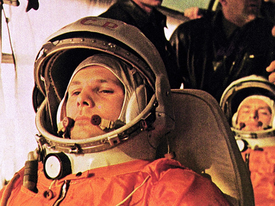 50th anniversary tribute to Yuri Gagarin: the first man in space.