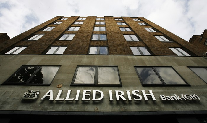 A branch of Allied Irish Bank is seen in London