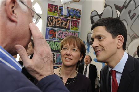 Labour Party MP and former foreign secretary Miliband arrives at his constituency in South Shields