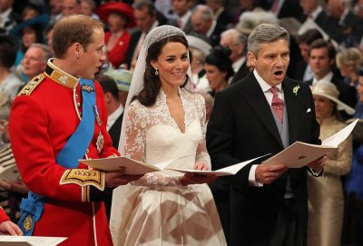 William and Kate pronounced man and wife