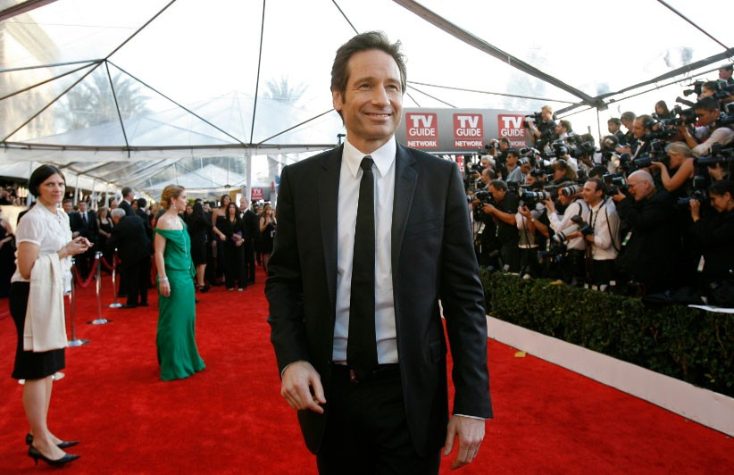 """Actor David Duchovny from """"Californication"""" arrives at the 15th annual Screen Actors Guild Awards in Los Angeles, California January 25, 2009"""