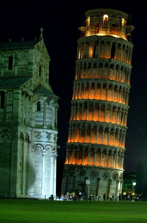 The famous leaning tower of Pisa
