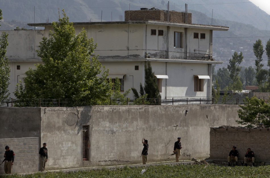 Osama Bin Laden's compound in Abbottabad, Pakistan
