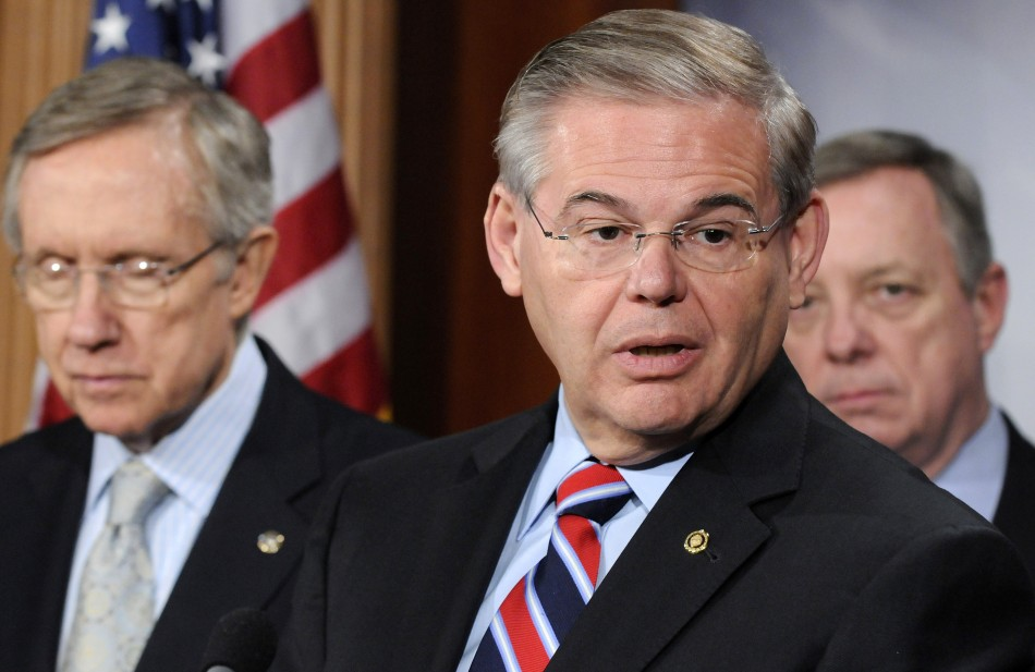 Senator Robert Menendez (right)