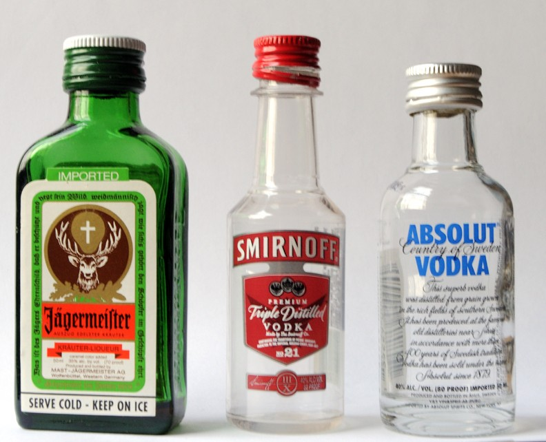 Mini liquor bottles