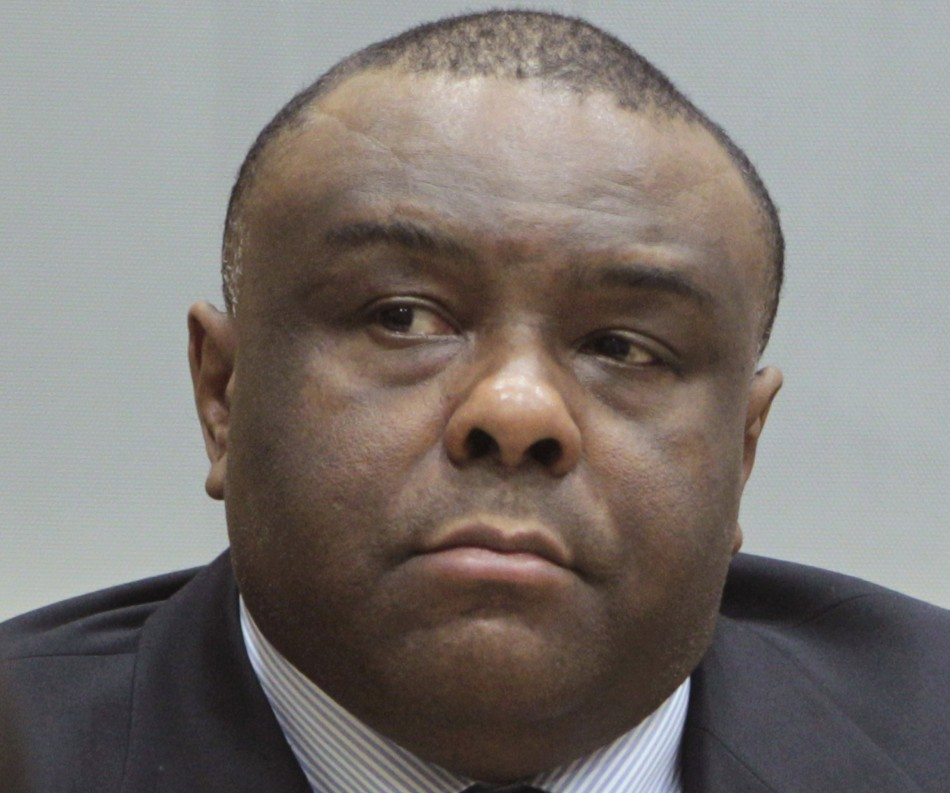 Congolese opposition figure Jean-Pierre Bemba sits in court at the International Criminal Court in The Hague, Netherlands