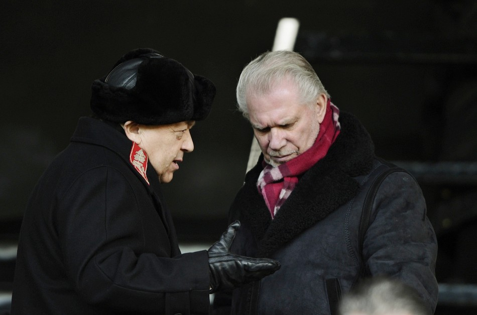The brawl was an unwelcome distraction for Sullivan (L) and Gold (R) after West Ham's relegation on Sunday