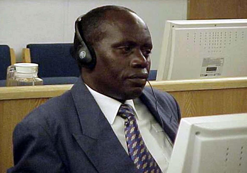 AUGUSTNI BIZIMUNGU LISTENS TO COURT PROCEEDING IN THE UNITED NATIONS TRIBUNAL IN ARUSHA TANZANIA