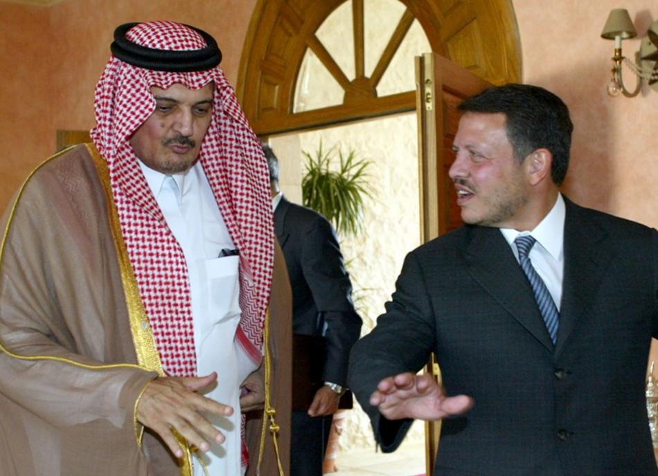 JORDANS KING ABDULLAH MEETS SAUDI FOREIGN MINSTER SAUD AL-FAISAL IN AMMAN.