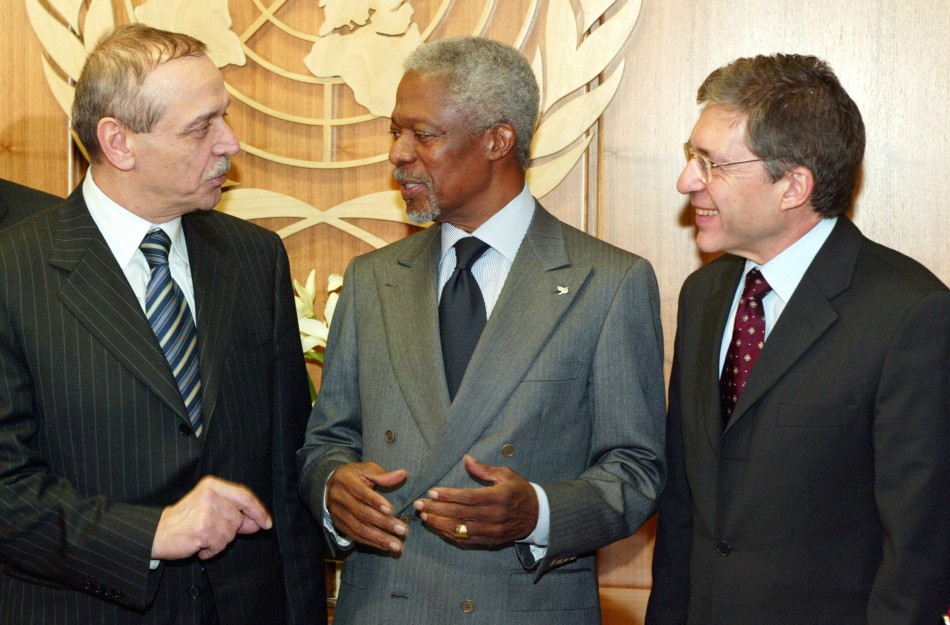 UNITED NATIONS SECRETARY GENERAL MEETS WITH GENEVA ACCORD SUPPORTERS