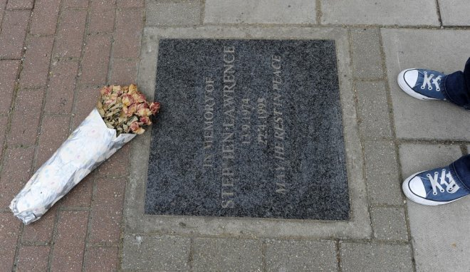 Stephen Lawrence memorial plaque
