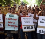 Students protest against rape of two minors