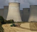 power plant over farm