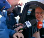 Claudio Ranieri in his car