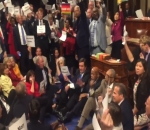 US democrats stage sit on gun control