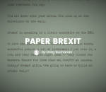 Paper Brexit EU Referendum interactive fiction
