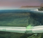 Hyperloop One's underwater transport system concept art