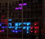 Ikea bookcase programmed to play Tetris