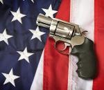Gun and American Flag