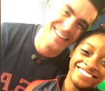 Rio 2016 Olympic: Simone Biles gets cheeky kiss from Zac Efron