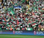 Celtic fans face fine after Palestine flags
