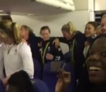 Team GB sing 'God Save the Queen' on plane back from Rio