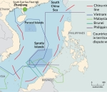 South China Sea: disputed areas