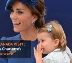 Princess Charlotte waves to crowd